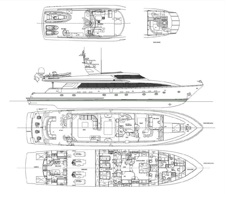 Luxury Charter Yacht Ocean Club Specs